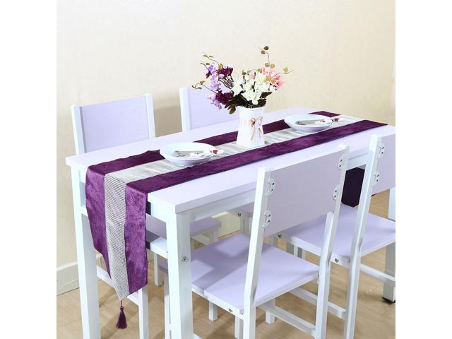 Sparkle Luxury Diamante Table Runner Wedding Party Ornament 32x 210cm Purple