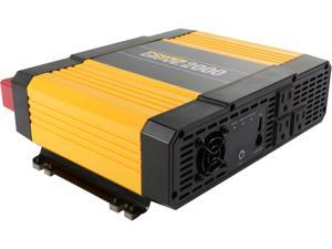 PowerDrive, LLC 2000-Watt DC to AC Power Inverter with USB Port and 3 AC Outlet