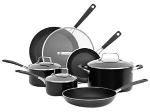 KitchenAid Aluminum Nonstick 10-Piece Cookware Set Black KC2AS10Q6OB