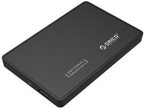 """ORICO Tool Free 2.5 inch USB 3.0 SATA External Hard Drive Enclosure for 2.5"""" SATA HDD and SSD Support UASP and  8TB Drive Max -Black"""