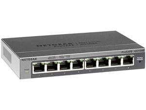 Netgear Prosafe Plus GS108E Ethernet Switch - 2 Layer Supported - Desktop, Wall Mountable - Lifetime Limited Warranty