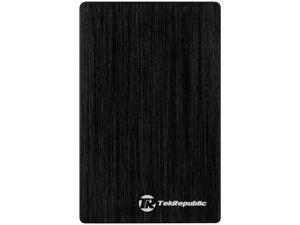 "Tek Republic TUE-300 2.5"" Black USB 3.0 Hard Drive External Enclosure for 9.5mm 7mm HDD and SSD (Optimized for SSD, Support UASP)"