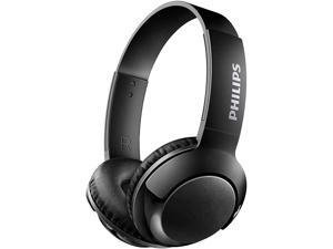 Philips SHB3075BK BASS+ Wireless Bluetooth On-The-Ear Headphones with Mic - Black