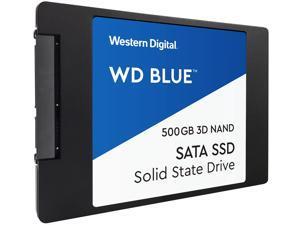 """WD Blue 3D NAND 500GB Internal SSD - SATA III 6Gb/s 2.5""""/7mm Solid State Drive - WDS500G2B0A"""