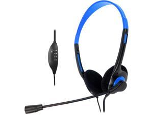 Krazilla KZH800 USB Gaming Headset with Microphone and Volume Control / Mute - Blue (A Grade)