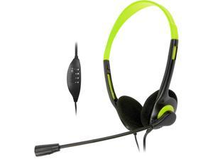 Krazilla KZH800 USB Gaming Headset with Microphone and Volume Control / Mute - Green (A Grade)