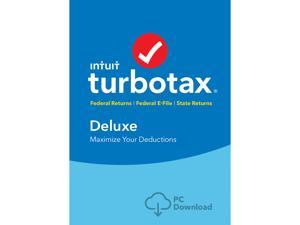 Intuit TurboTax Deluxe 2018, Federal with State + Efile for Windows - Download