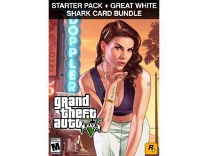 Grand Theft Auto V, Criminal Enterprise Starter Pack and Great White Shark Card Bundle [Online Game Code]