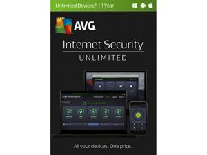 AVG Internet Security 2017 Unlimited for 1 Year