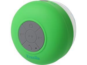 Krazilla KZS1008 GN Green Splash Proof Bluetooth Speaker, Open Box Like New