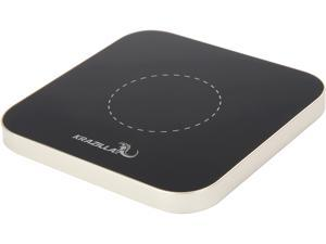 Krazilla KZC99 silver base Square Wireless Charging Pad for iPhone, Android Phones, USB Cable Included