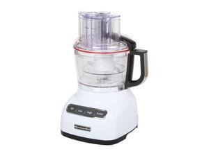 KitchenAid KFP0922WH White 9-Cup Food Processor with ExactSlice System 3 Speeds