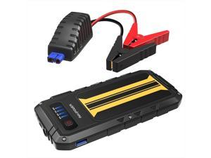 Car Jump Starter RAVPower 300A Peak Current (for All 12V 2.0 L Gas Engines) Quick Charge Power Bank 8000mAh Car Battery Booster, Built-In LED Flashlight