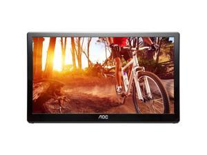 "Refurbished: AOC E1659FWU 16"" Portable LED Monitor, USB 3.0 Powered Ultra Slim 1366x768 Res 200 cd/m2 Brightness"