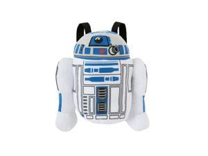 "Star Wars ""R2D2"" Plush Backpack Kids Bag with Zipper Pouch"