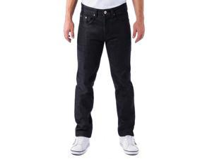 Alta Denim F-16 Designer Fashion Men's Straight Fit Jeans - Black 36 W 30 L