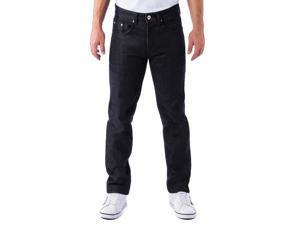Alta Denim F-16 Designer Fashion Men's Straight Fit Jeans - Black 36 W 30 L