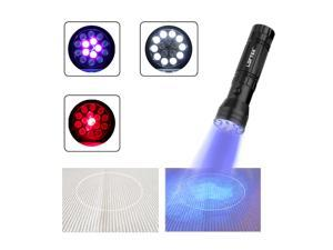 LOFTEK  Multifunctional LED Flashlight with with WHITE LIGHT & UV LIGHT & RED LASER, Great Detector for Pet Urine, Bed Bugs and Torch Spot Scorpions