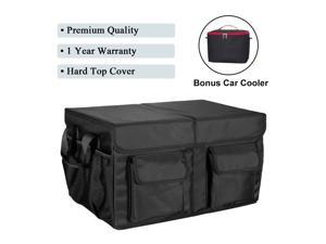 MIU COLOR Foldable Cargo Trunk Organizer with Durable Cover Washable Storage with Reinforced Handles - Bonus Car Cooler