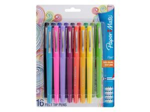 Paper Mate Flair Porous Point Stick Pens, 0.7mm, Medium Point, Assorted Colors, 16-Count
