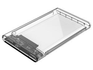 ORICO 2.5 in. Transparent USB3.0 External Hard Drive Disk Enclosure High-Speed Case for SSD Support 2TB Max (2139U3-CR)