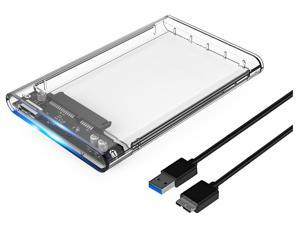 "ORICO Transparent USB 3.0 to SATA 3.0 2.5 inch""  External Hard Drive Disk Enclosure Box USB 3.0 High-Speed Case for 2.5 inch HDD SSD Case Support UASP protocol SATA III Tool Free"