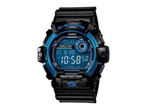 Casio G8900A-1 G-Shock Shock Resistant Blue Dial Black Resin Strap Digital