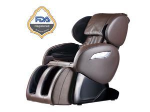 BestMassage Electric Full Body Shiatsu Massage Chair Foot Roller Zero Gravity w/Heat 55 - Brown