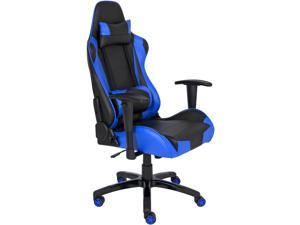 Best Choice Products Racing Leather Gaming Office Chair, Backrest And Height Adjustable - Blue