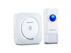 Patazon Wireless Doorbell over 1000-feet Range 50 Chimes, 4-Level Volume No Batteries Required for Receiver - White