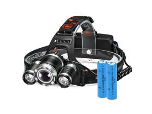 Headlamp Rechargeable LED Lamp with 4 Light Modes