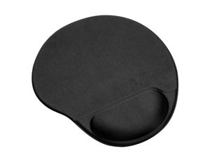 Patazon Mouse Pad with Gel-Filled Cushion Non-Slip PU Base - Black