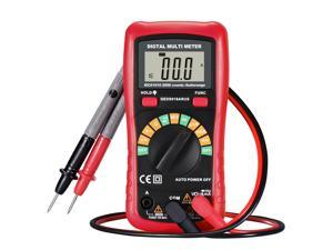 Patazon Red Digital Multimeter with NCV Feature, Amp/ Volt/ Ohm Meter, Auto-ranging Multitester/VOM with LCD Backlight Display