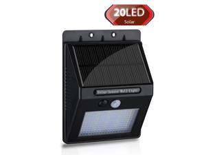 20LED Solar Panel Powered Motion Sensor Lamp Outdoor Light Garden Security Light 400lm