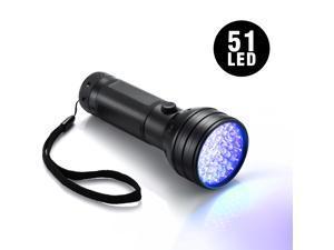 51 LED UV Ultraviolet Flashlight Blacklight Scorpions Light Powered by Batteries