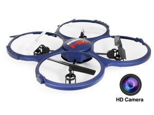 UDI Discovery U818A-1 (Updated Version) 2.4GHz 4CH RC Quadcopter w/ HD Video Camera & BONUS Battery