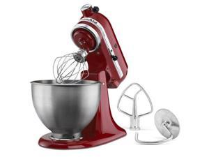 KitchenAid Tilt-Head Stand Mixer Stainless Steel Bowl, Empire Red KSM85PBER