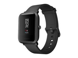 [HK Stock](English Version)Xiaomi Huami Amazfit Bip Lite Version IP68 Bluetooth 4.0 Sports Smartwatch Bluetooth 4.0 GPS Gloness 45 Days Standby Plus a Free Protective Screen Film - Black