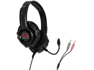 GamesterGear Cruiser PC200-B PC Stereo Gaming Headset with Detachable Mic Twin 3.5mm Plug OG-AUD63097