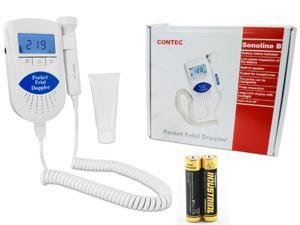 CONTEC Sonoline B prenatal Fetal doppler, Baby heart rate monitor,LCD Backlight,3MHZ probe.Gel
