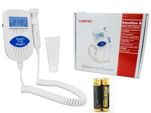 CONTEC Sonoline B prenatal Fetal doppler, Baby heart rate monitor,LCD Backlight,3MHZ probe.Gel
