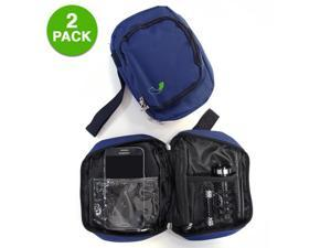 GearXS Blue Accessory Storage Pouch - For Cameras, Cell Phones, Wallets, & Other Items! 2-Pack