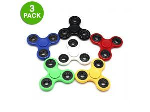 3-Pack: Fidget Hand Tri-Spinner Anxiety & Stress Relief Toy