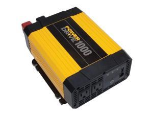 POWERDRIVE 1000 Watt DC to AC Power Inverter with USB Port & 2 AC Outlets RPPD1000