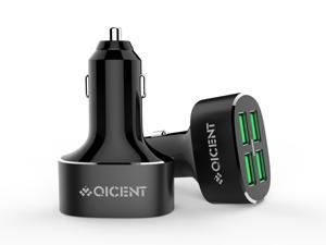 Car Charger: QICENT UCP-4P-BK 8A / 40W 4-Port USB Car Charger with Smart Technology for iPhone 6s / 6 / 6 plus, iPad Air 2, Samsung Galaxy S6 /Edge / Plus, Note, Nexus, HTC, Motorola, Nokia and More