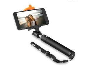 Aukey Self-portrait Monopod Extendable Selfie Stick with built-in Bluetooth Remote Shutter for iPhone, Samsung, Android Smartphones (HD-P7 Black)