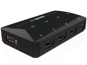 Wavlink SuperSpeed 4-Port USB 3.0 Hub with One 2.4 A Quick Charging Port, USB 3.0 4-Port HUB Up To 5Gbps, Smart Charging Port Up To 2.4A (BC1.2 / iPad / Cell Hone) , Hot Swapping, Plug and Play