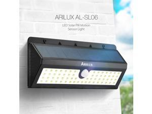Five Star ARILUX Solar Powered 62 LED PIR Motion Sensor Light Outdoor Hanging Light Waterproof IP65 Wall Lamp (AL-SL06)