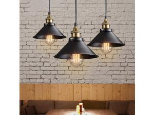 Retro Ceiling Vintage Chandelier Industrial Pendant Metal Hanging Light Lamp (not included Bulb)