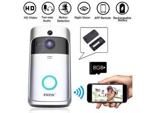 Smart Wireless WiFi Video Visual Security Doorbell Motion Detection Phone Camera
